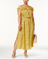 MICHAEL Michael Kors Printed Off-The-Shoulder Maxi Dress