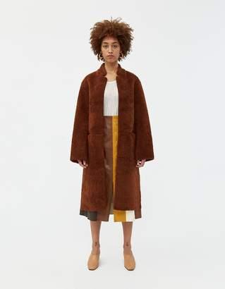 Mijeong Park Wool Blend Faux Shearling Coat