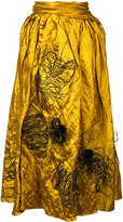 Roksanda Kalmar embroidered skirt - women - Silk/Cotton/Viscose/Metallic Fibre - 10