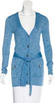 Diane von Furstenberg Belted Button-Up Cardigan