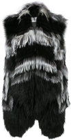 Yves Salomon sleeveless coat - women - Fox Fur/Spandex/Elastane/Viscose - 36