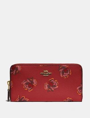 Coach Accordion Zip Wallet With Floral Print