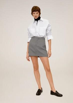 MANGO Straight miniskirt