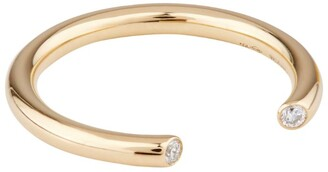 VANRYCKE Yellow Gold and Diamond Maasai Ring Size 54