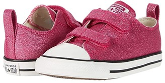 Converse Chuck Taylor All Star 2V Summer Sparkle - Ox (Infant/Toddler) (Cerise Pink/Natural Ivory/Vintage White) Girl's Shoes