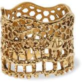 Aurelie Bidermann Lace Gold-plated Ring - 54
