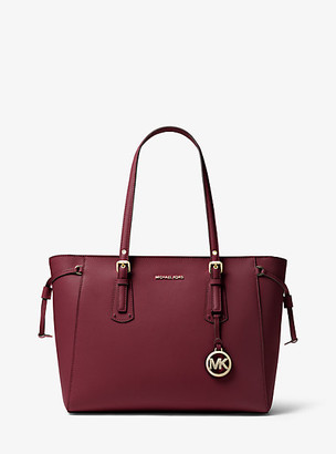 Michael Kors Voyager Medium Crossgrain Leather Tote