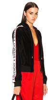 Givenchy Logo Band Velvet Track Jacket