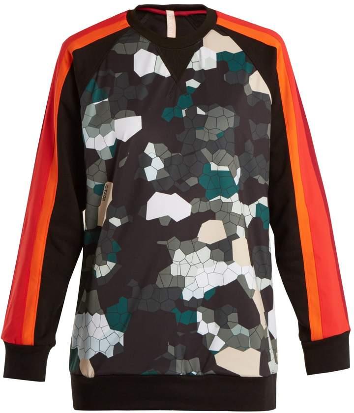 NO KA 'OI NO KA'OI Noho camouflage-print cotton-blend performance top