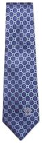 Versace Silk Geometric Jacquard Tie