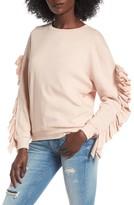 BP Women's Ruffle Sleeve Sweatshirt