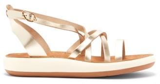 Ancient Greek Sandals Delia Leather Flatform Sandals - Gold