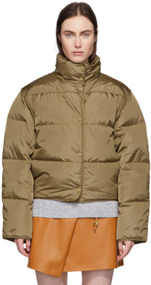 Acne Studios Tan Down Short Jacket