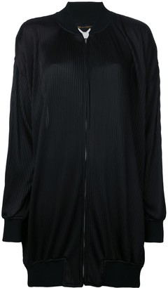 Comme Des Garçons Pre Owned Pleated Bomber Jacket