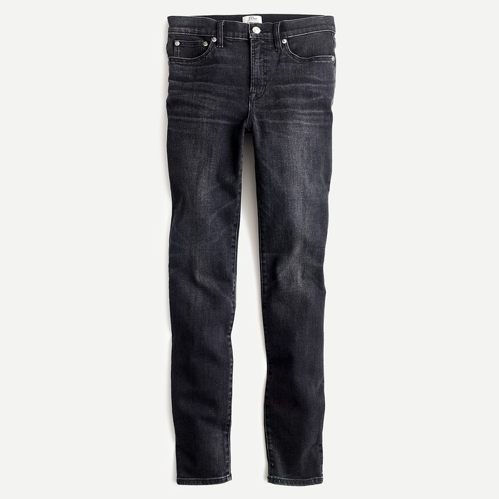 """9"""" High Rise Toothpick Jean In Charcoal Wash"""