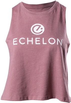 PPM Merch Echelon Echelon Women's Stacked Logo Cropped Muscle Tank