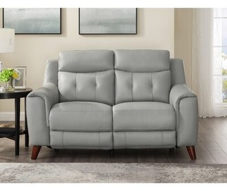 Tortuga Wrought Studio Leather Reclining Loveseat Wrought Studio