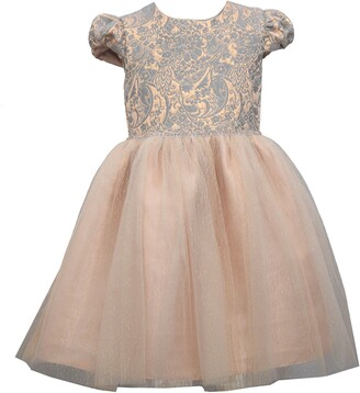 Iris & Ivy Kids' Floral Jacquard & Tulle Ballerina Dress