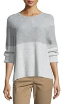 Vince Colorblock Ribbed Cashmere-Blend Sweater