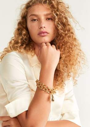 MANGO Combined pendants bracelet gold - One size - Women