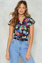 Nasty Gal Stayin' Flower Floral Blouse