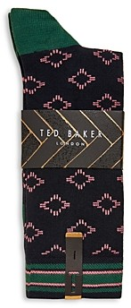 Ted Baker Mxs Brans Geometric Pattern Socks