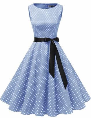 Gardenwed Women's 1950s Rockabilly Vintage Dresses Coral XL