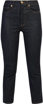 Tory Burch Cropped Boot-Cut Jeans