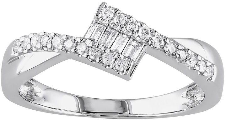 10k White Gold 1/4-Ct. T.w. Diamond Ring