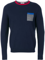 Sun 68 breast pocket sweatshirt
