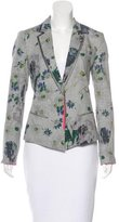 Elizabeth and James Structured Floral Print Blazer