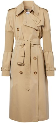Burberry Panelled-Sleeve Oversized Trench Coat