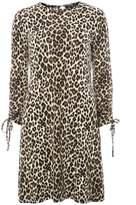 Dorothy Perkins Black Leopard Print Swing Dress