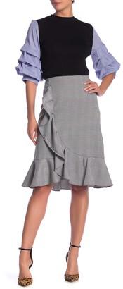 Gracia Ruffled Plaid Skirt