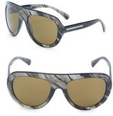 Giorgio Armani 58MM Printed Wrap Sunglasses