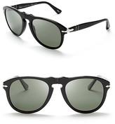 Persol Suprema Polarized Retro Keyhole Sunglasses