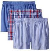 Polo Ralph Lauren 3-Pack Classic Fit Packaged Woven Boxers (Murray Plaid/Bill Plaid/Jack Stripe) Men's Underwear