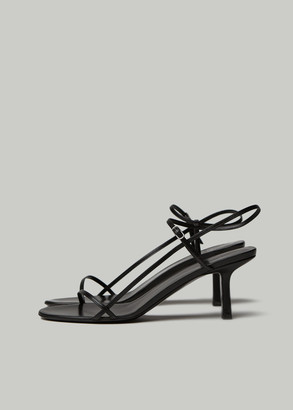 The Row Women's Bare Sandal in Black Size 36 Kidskin Leather