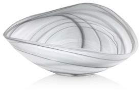 Mariposa Black & White Alabaster Matte Decorative Bowl