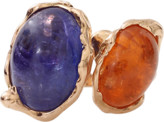 Lucifer Vir Honestus Tanzanite And Mandarin Garnet Contrarie Ring