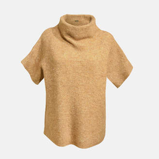 Gustav Gold Wool and Mohair Blend Pullover - 38 - Gold