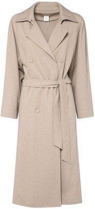 Max Mara Belted Cotton Blend Long Coat