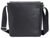 Royce Leather Pebbled iPad Messenger Bag