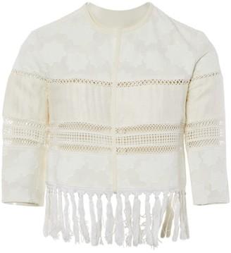 Jonathan Simkhai White Cotton Jacket for Women