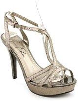 Marc Fisher Too Hot Women US 9.5 Silver Platform Sandal