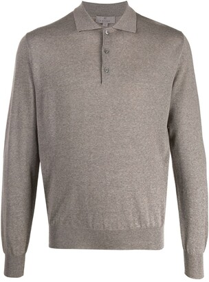 Canali long-sleeve polo shirt