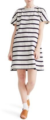 Madewell Striped Tomboy Oversized Pocket T-Shirt Dress