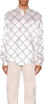 Gmbh GmbH Geometric Digital Print Shirt in White   FWRD