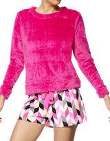 Hue Two-Piece Fleece Shirt and Chevron Boxer Set