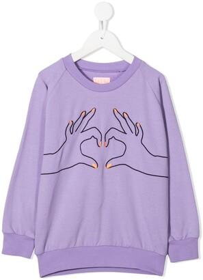 Wauw Capow By Bangbang Love embroidered sweatshirt